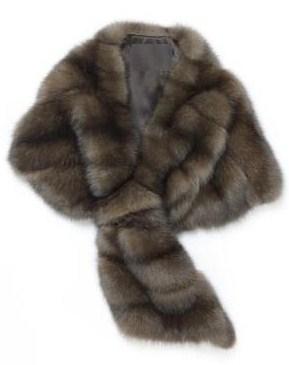 меховой шарф фото