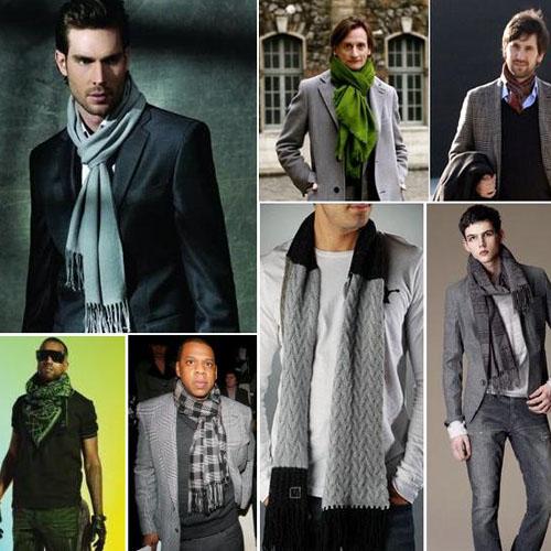Научиться правильно завязывать вязаные мужские шарфы - это целая наука...